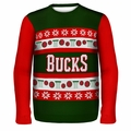 Milwaukee Bucks NBA Ugly Sweater Wordmark