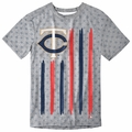 Minnesota Twins Big Logo Flag Tee by Forever Collectibles