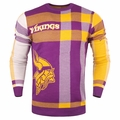 Minnesota Vikings Men's Plaid Crew Neck NFL Ugly Sweater