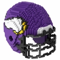 Minnesota Vikings NFL 3D Helmet BRXLZ Puzzle By Forever Collectibles
