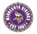 Minnesota Vikings NFL Wall Decor Bottlecap Collection by Forever Collectibles