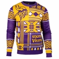 Minnesota Vikings Patches NFL Ugly Sweater by Klew