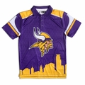 Minnesota Vikings NFL Polyester Short Sleeve Thematic Polo Shirt