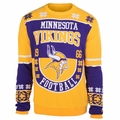 Minnesota Vikings Retro Cotton Sweater by Klew