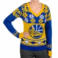 NBA Big Logo Women's V-Neck Ugly Sweaters by Klew