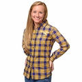 NBA Women's Wordmark Flannel Long Sleeve Shirts by Forever Colliectibles