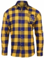 NBA Wordmark Flannel Long Sleeve Shirts by Klew