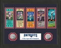 New England Patriots 5-Time Super Bowl Champions Ticket Collection by The Highland Mint