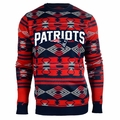New England Patriots Aztec NFL Ugly Crew Neck Sweater