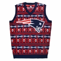 New England Patriots Aztec NFL Ugly Sweater Vest