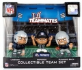 New England Patriots Lil Teammates NFL 3-Pack (QB, RB, REF) Collectible Team Set