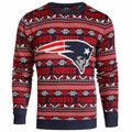 New England Patriots NFL Aztec Ugly Crew Neck Sweaters by Forever Collectibles