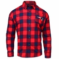 New England Patriots NFL Checkered Men's Long Sleeve Flannel Shirt