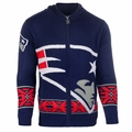 New England Patriots NFL Full Zip Hooded Sweater