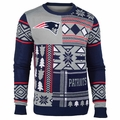 New England Patriots Patches NFL Ugly Sweater by Klew