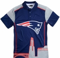 New England Patriots NFL Polyester Short Sleeve Thematic Polo Shirt