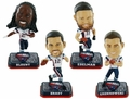 New England Patriots Super Bowl 51 Champions Mini Bighead 4-Pack Bobbles (Blount, Brady, Edelman, Gronkowski) by Forever Collectibles