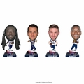 New England Patriots Super Bowl 51 Champions Mini Bighead 4-Pack Bobbles (Blount, Brady, Edelman, Bennett) by Forever Collectibles