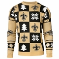 New Orleans Saints Patches NFL Ugly Crew Neck Sweater by Forever Collectibles