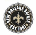 New Orleans Saints NFL Wall Decor Bottlecap Collection by Forever Collectibles