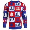New York Giants Patches NFL Ugly Crew Neck Sweater by Forever Collectibles