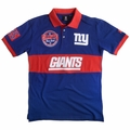 New York Giants NFL Cotton Wordmark Rugby Short Sleeve Polo Shirt