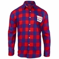 New York Giants NFL Checkered Men's Long Sleeve Flannel Shirt
