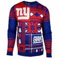 New York Giants Patches NFL Ugly Sweater by Klew