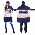 New York Giants Sweatshirt-style NFL Hoodie Poncho