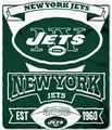 New York Jets NFL Fleece Throw Blanket