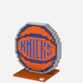 New York Knicks NBA 3D Logo BRXLZ Puzzle By Forever Collectibles
