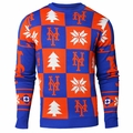 New York Mets Patches MLB Ugly Crew Neck Sweater by Forever Collectibles