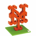 New York Mets MLB 3D Logo BRXLZ Puzzles By Forever Collectibles