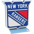 New York Rangers NHL 3D Logo BRXLZ Puzzle By Forever Collectibles
