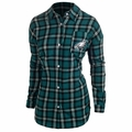 NFL Women's Wordmark Long Sleeve Flannel Shirts by Forever Collectibles