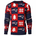 NFL Patches Version 2 Ugly Crew Neck Sweaters by Forever Collectibles
