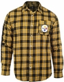 NFL Wordmark Mens Long Sleeve Flannel Shirts by Klew