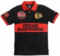 NHL Cotton Wordmark Rugby Short Sleeve Polo Shirts by Klew