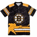 NHL Polyester Short Sleeve Thematic Polo Shirts by Klew