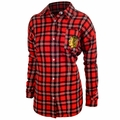NHL 2016 Women's Wordmark Long Sleeve Flannel Shirts by Forever Collectibles