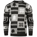 Oakland Raiders Patches NFL Ugly Crew Neck Sweater by Forever Collectibles