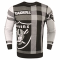 Oakland Raiders Men's Plaid Crew Neck NFL Ugly Sweater