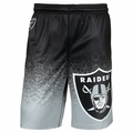 Oakland Raiders NFL Gradient Polyester Shorts By Forever Collectibles
