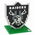 Oakland Raiders NFL 3D Logo BRXLZ Puzzle By Forever Collectibles