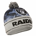Oakland Raiders NFL Camouflage Light Up Printed Beanies