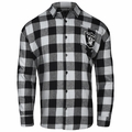 Oakland Raiders NFL Checkered Men's Long Sleeve Flannel Shirt