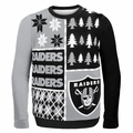 Oakland Raiders NFL Ugly Sweater Busy Block