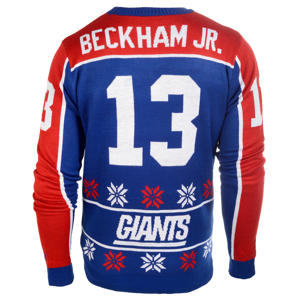 Odell Beckham Jr. #13 (New York Giants) NFL Player Ugly Sweater