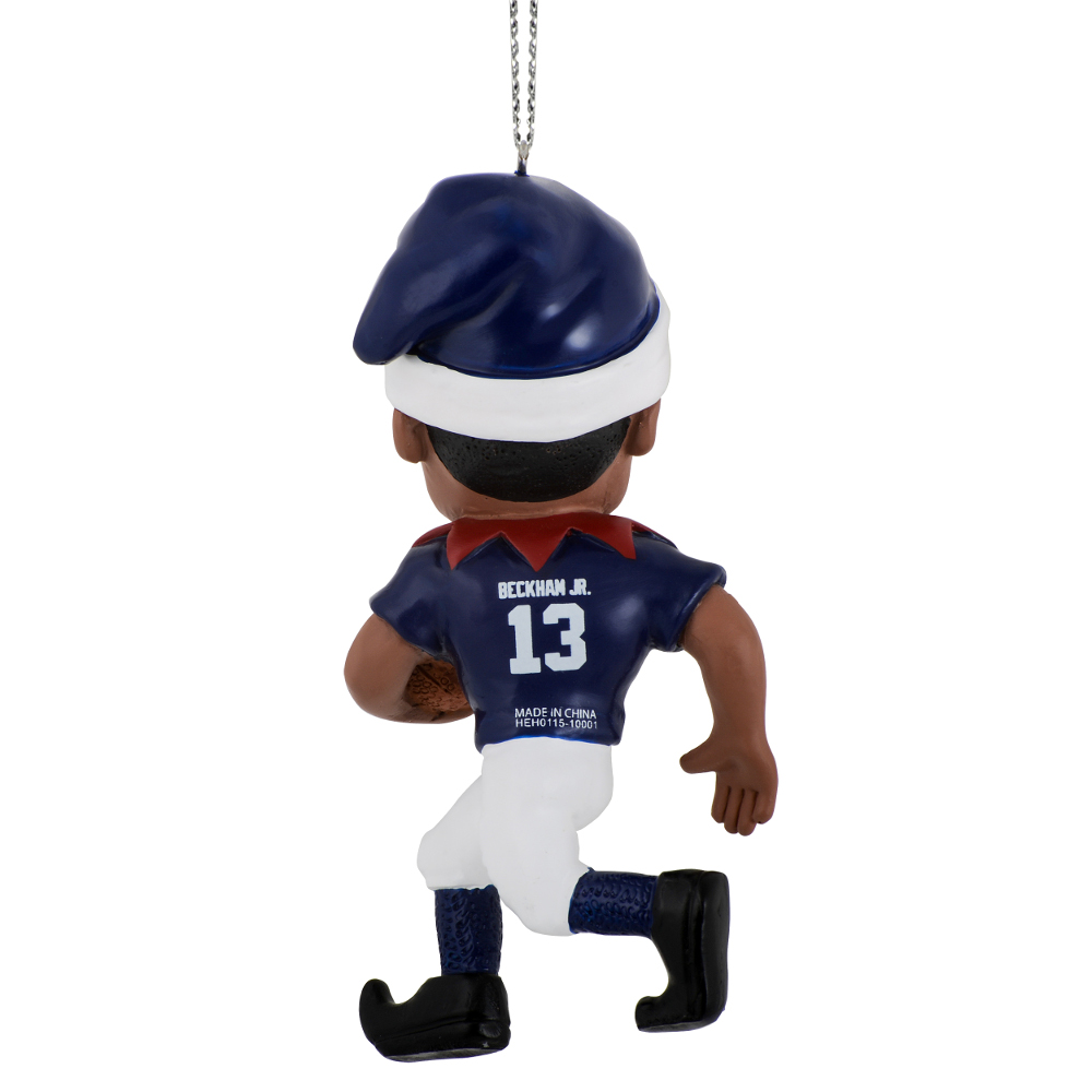 Football player ornament - Odell Beckham Jr New York Giants Forever Collectibles Nfl Player Elf Ornament