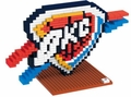 Oklahoma City Thunder NBA 3D Logo BRXLZ Puzzle By Forever Collectibles